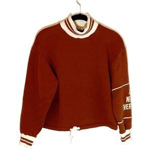 Zara Trafaluc Cropped Sweatshirt: S
